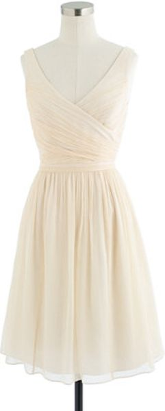 J.Crew Petite Heidi Dress in Silk Chiffon - Lyst