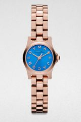 Marc By Marc Jacobs Henry Dinky Rose Goldtone Stainless Steel Watch - Lyst