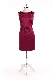 Marc New York Sleeveless Satin Sheath Dress - Lyst