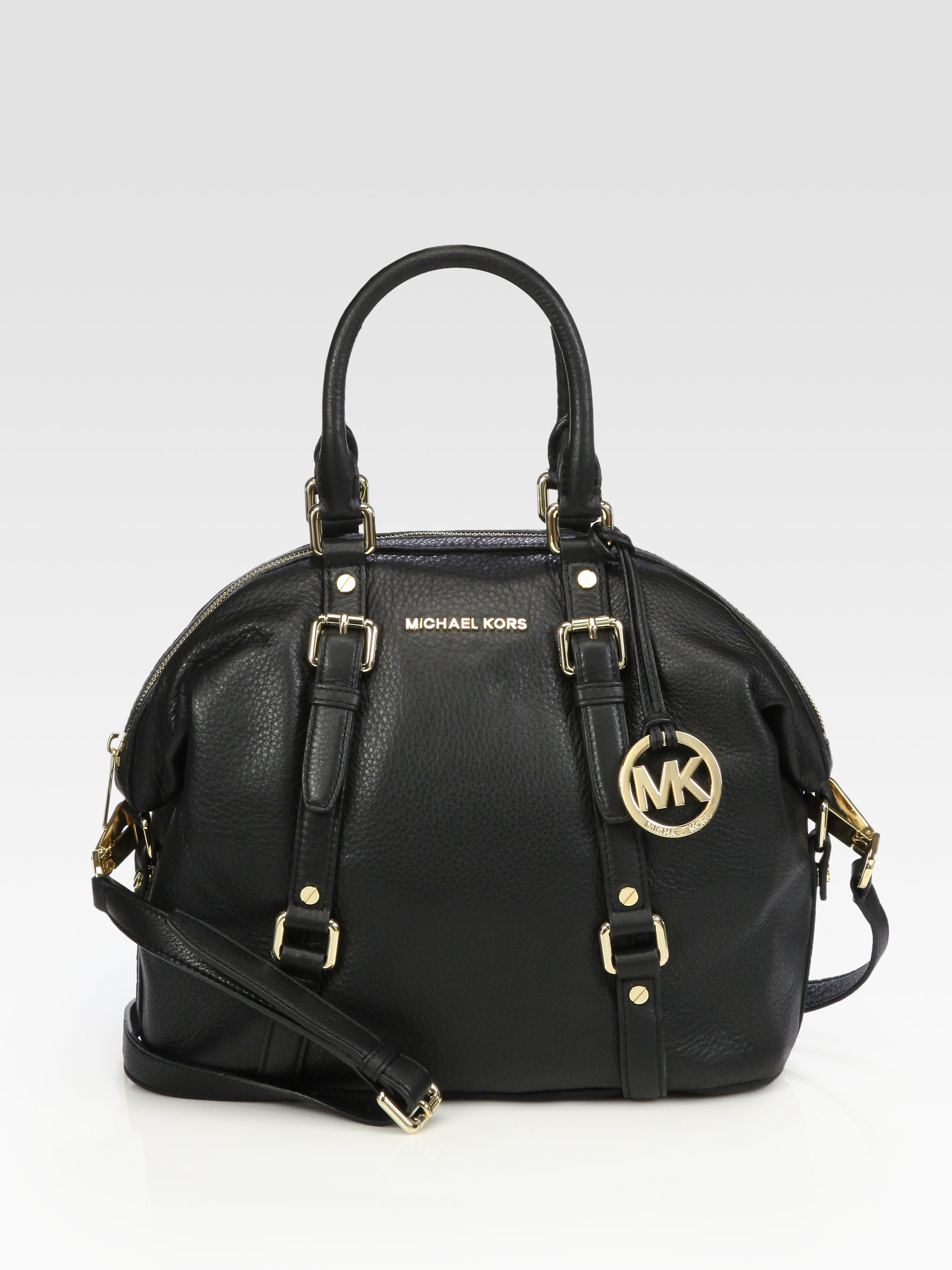 michael michael kors bedford medium satchel in black lyst. Black Bedroom Furniture Sets. Home Design Ideas
