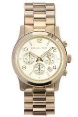 Michael Kors Gold Chronograph Watch in Gold - Lyst
