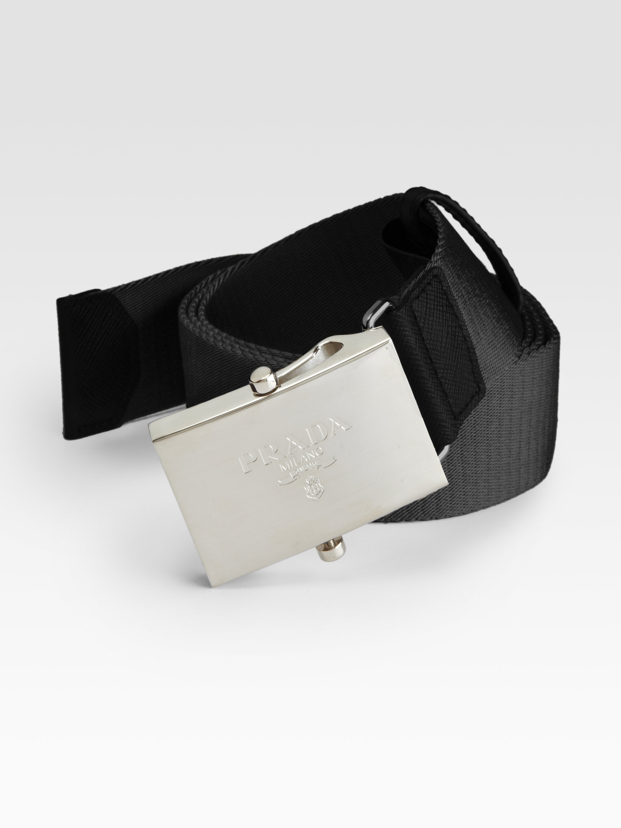 ad5299b12d07e2 Prada Nylon Belt in Black for Men - Lyst