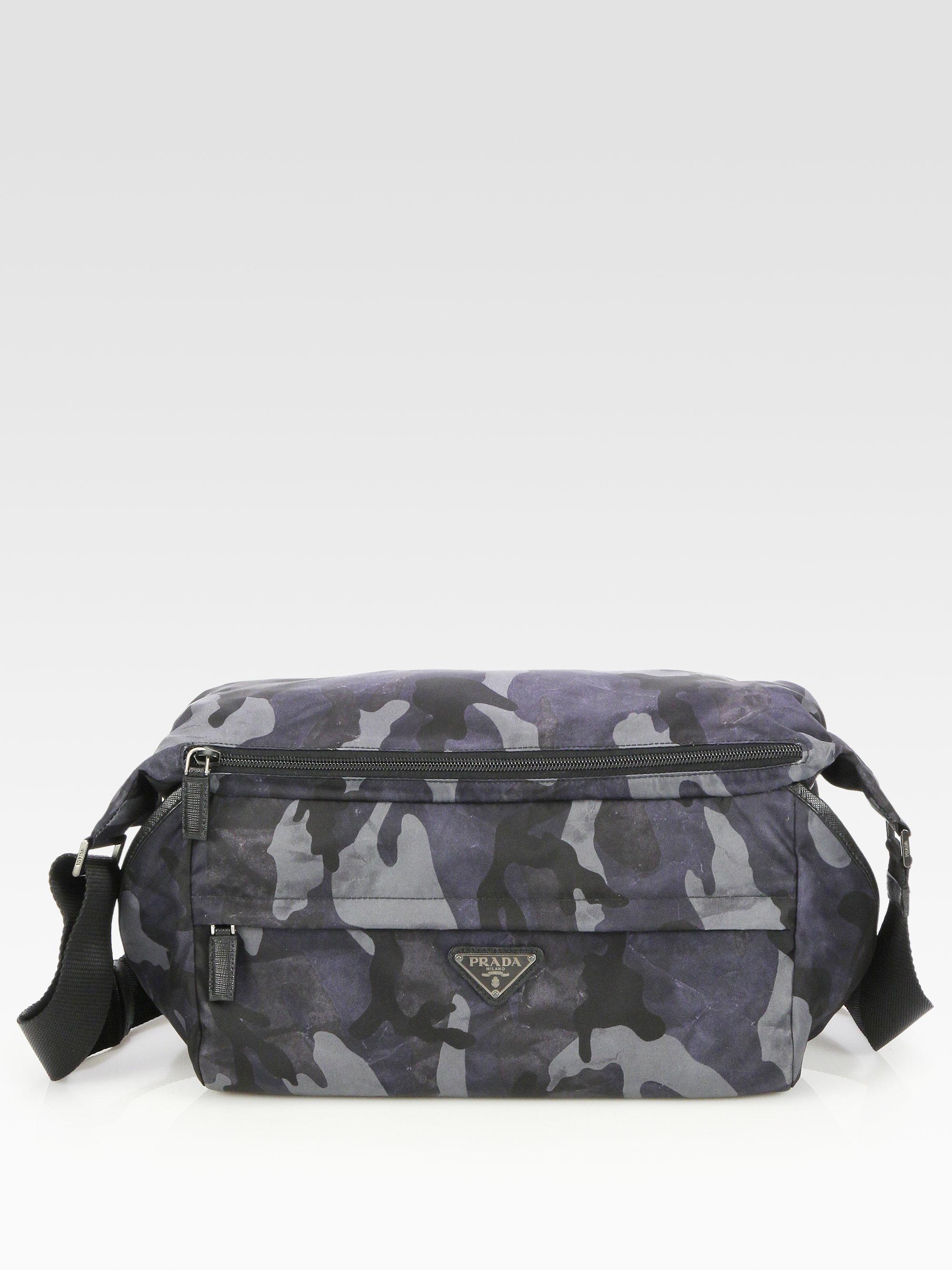 ... usa lyst prada small nylon shoulder bag in blue for men c85ee 70b40 0f31999bb6da2