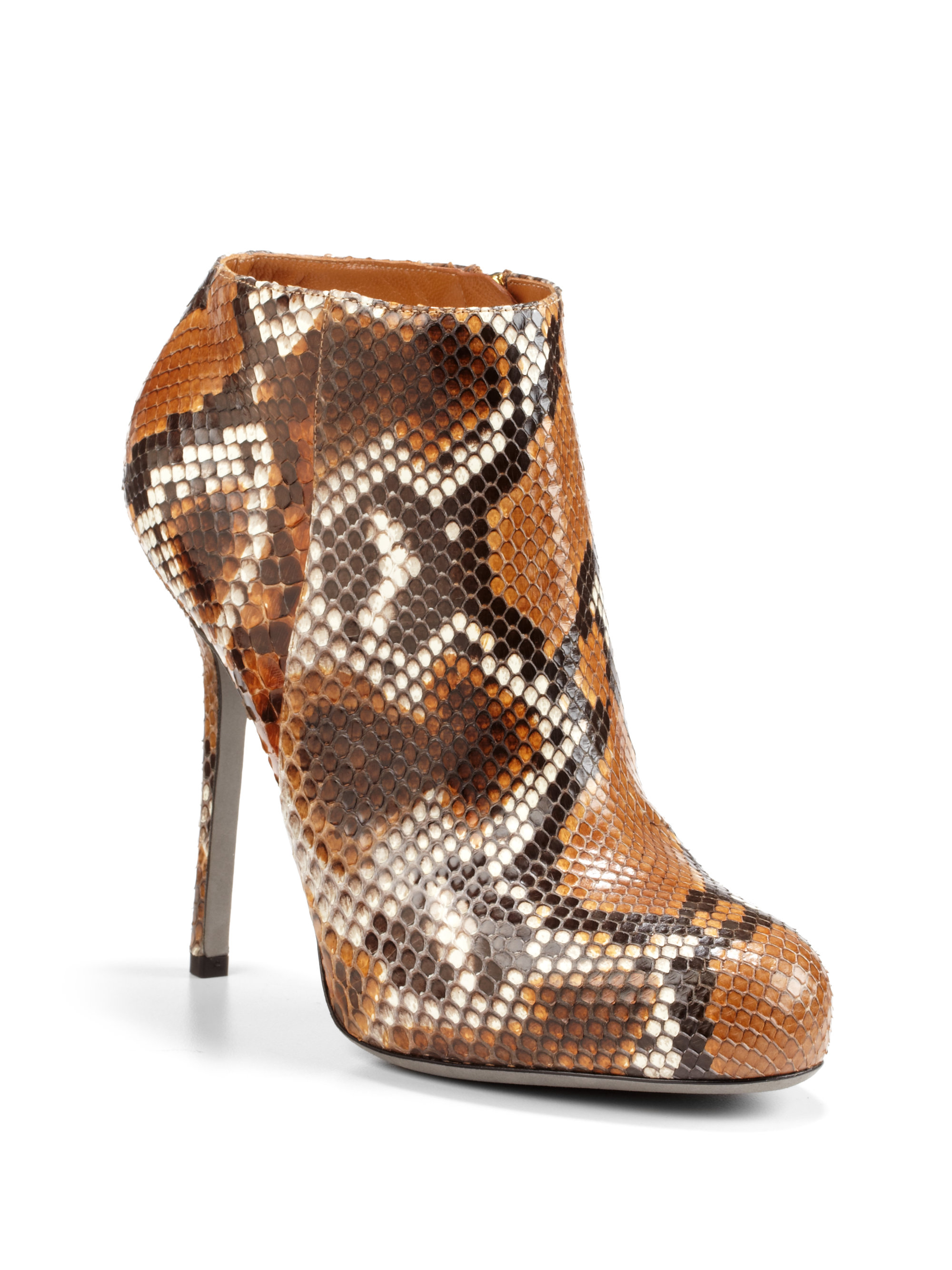Sergio Rossi Python-Trimmed Ankle Boots sale authentic CyNrZrU45