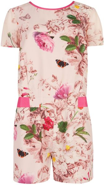 Ted Baker Aryanna Natural Kingdom Playsuit - Lyst