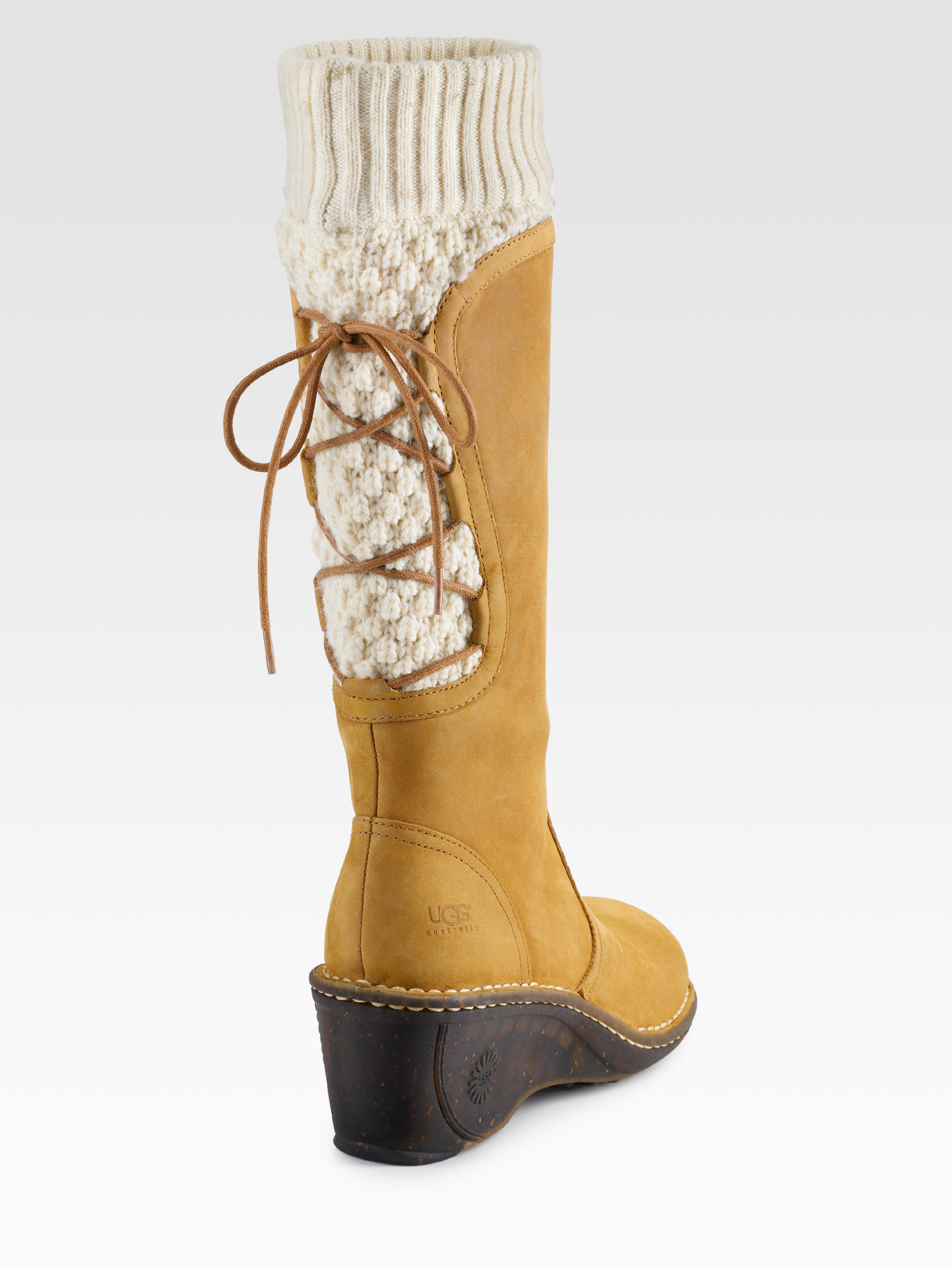 830de892a593 ... reduced lyst ugg skylair suede wedge boots in brown f3e3d ec426