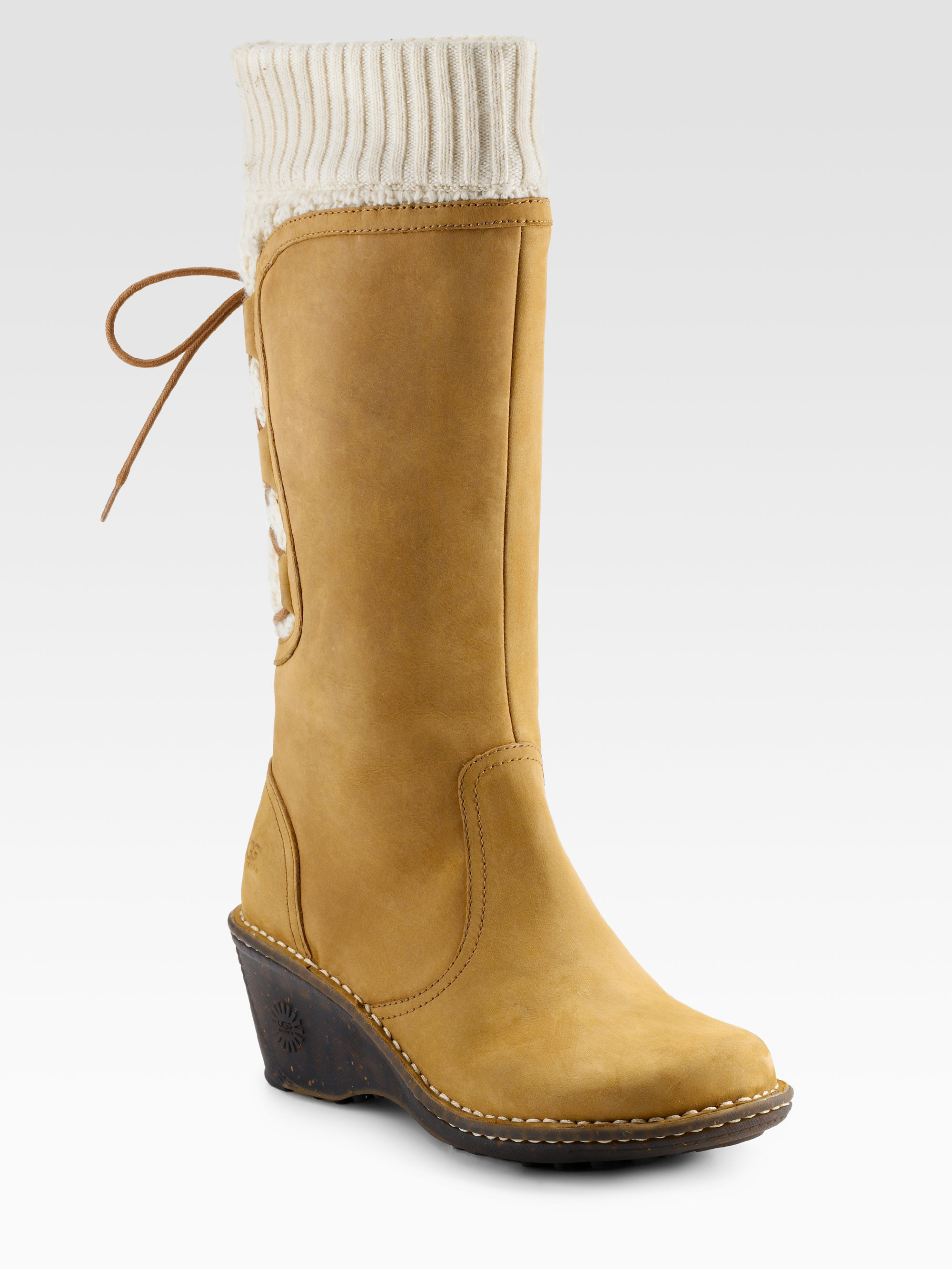 Ugg Skylair Suede Wedge Boots in Brown