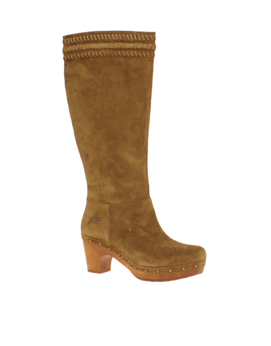 Ugg Rosabella Long Heeled Clog Boots In Brown Lyst