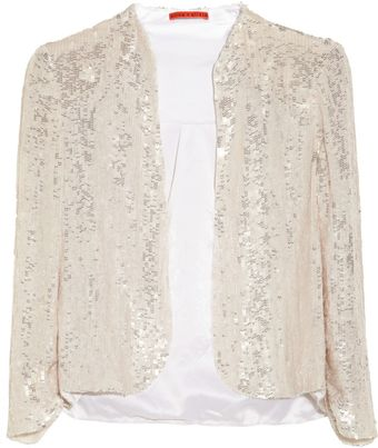 Alice + Olivia Wheeler Sequined Silk Organza Jacket - Lyst