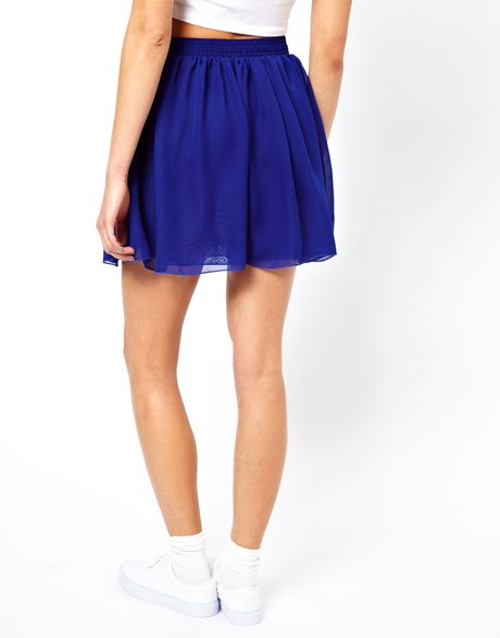 american apparel layered chiffon skater skirt in