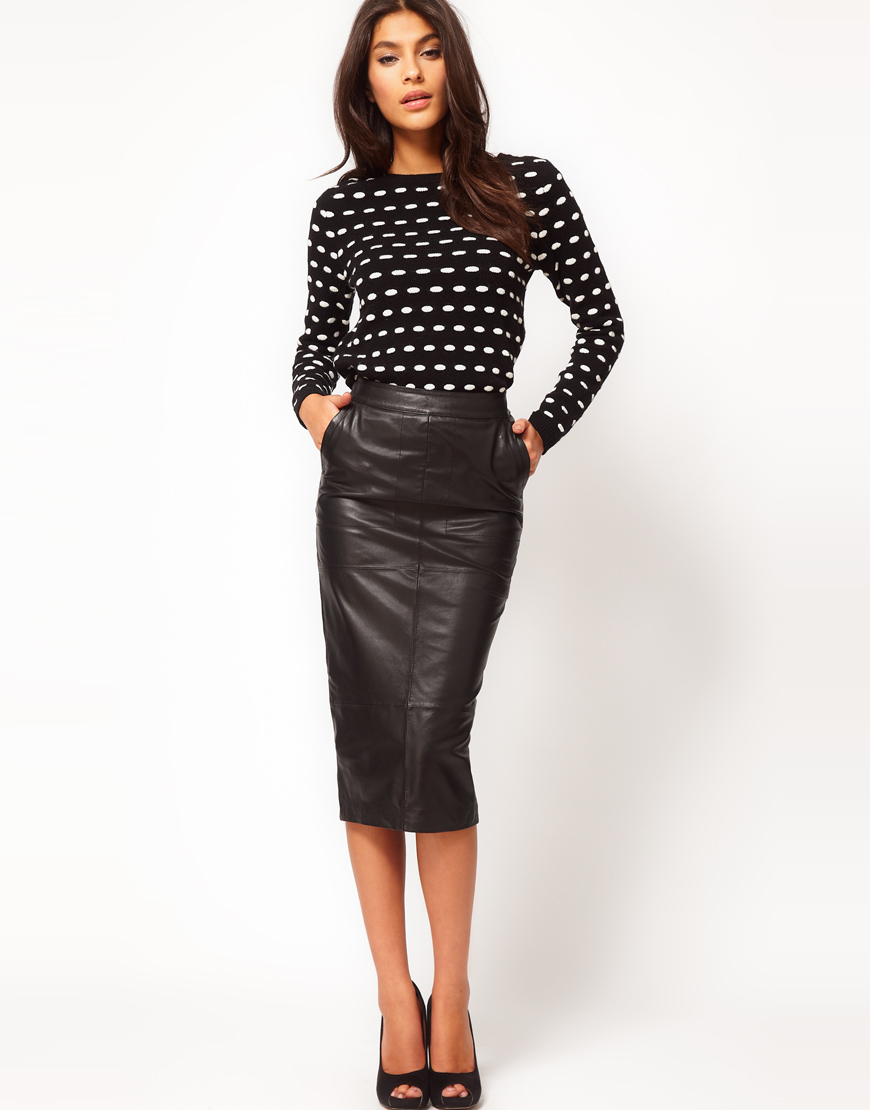 ff2c9f64e2 Gallery. Women's Black Leather Pencil Skirts