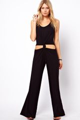 Asos Maternity Asos Petite Exclusive Jumpsuit With Knot Front - Lyst