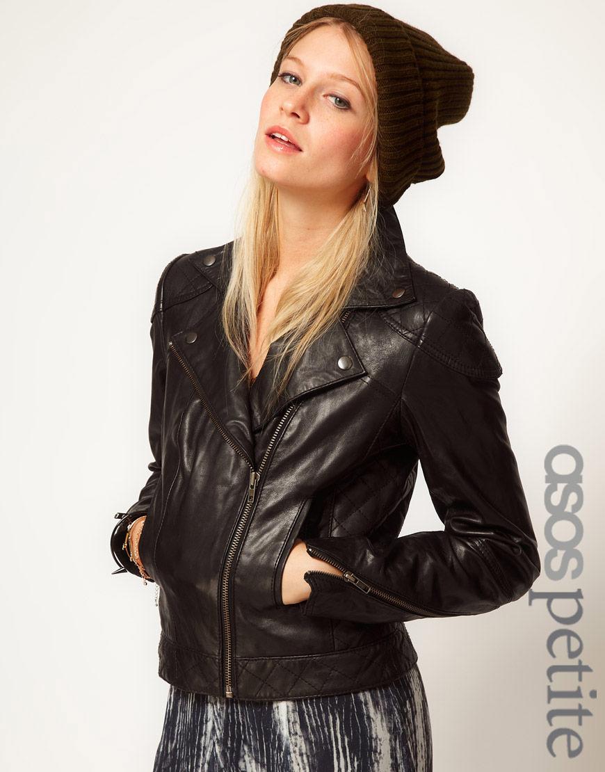 Petite Black Leather Jacket