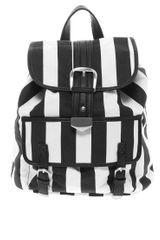 Asos Backpack Bag in Mono Stripe