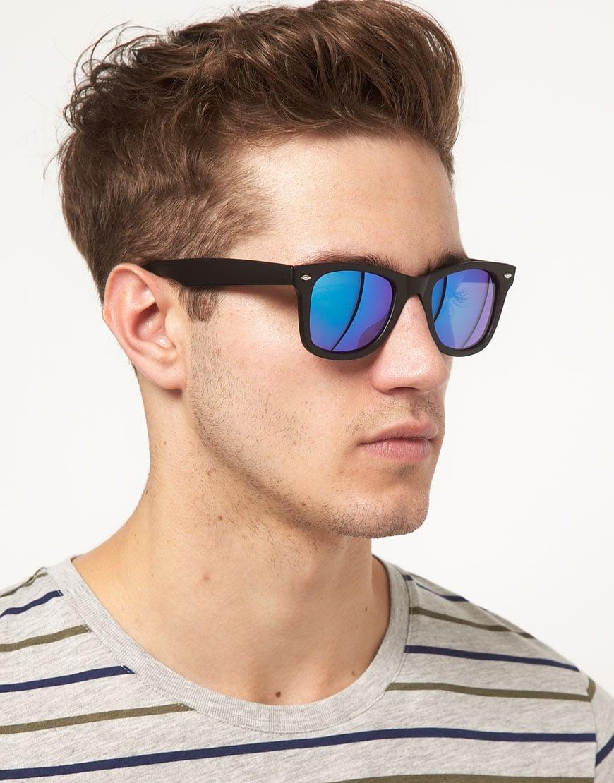 Lyst G Star Raw Asos Mirrored Lens Wayfarer Sunglasses