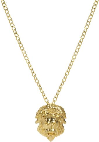 Asos Lion Head Necklace - Lyst