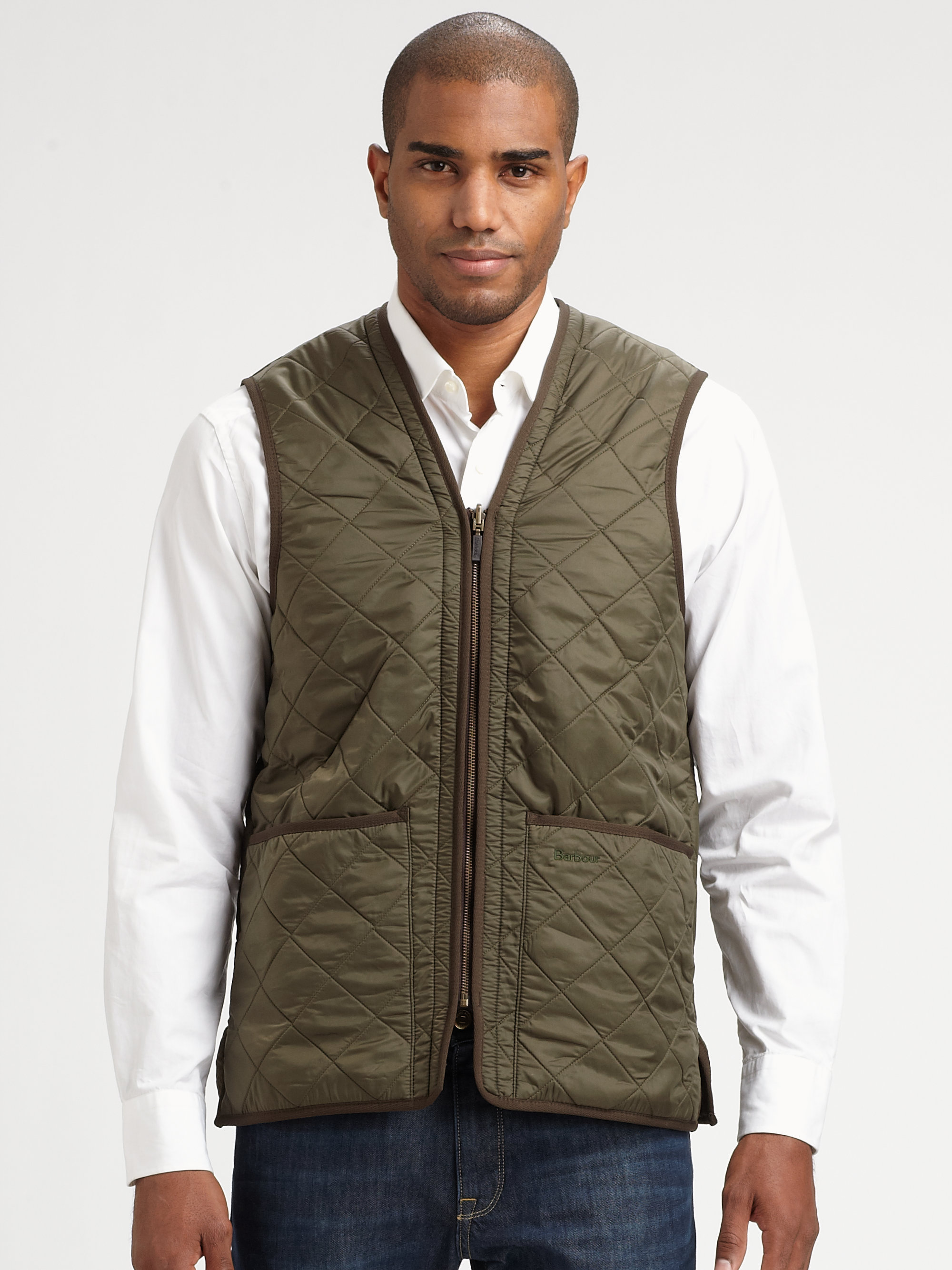 Lyst Barbour Quilted Vest In Green For Men