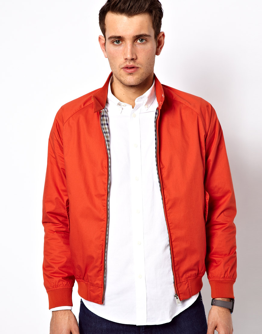 ben sherman harrington bomber jacket in orange for men lyst. Black Bedroom Furniture Sets. Home Design Ideas