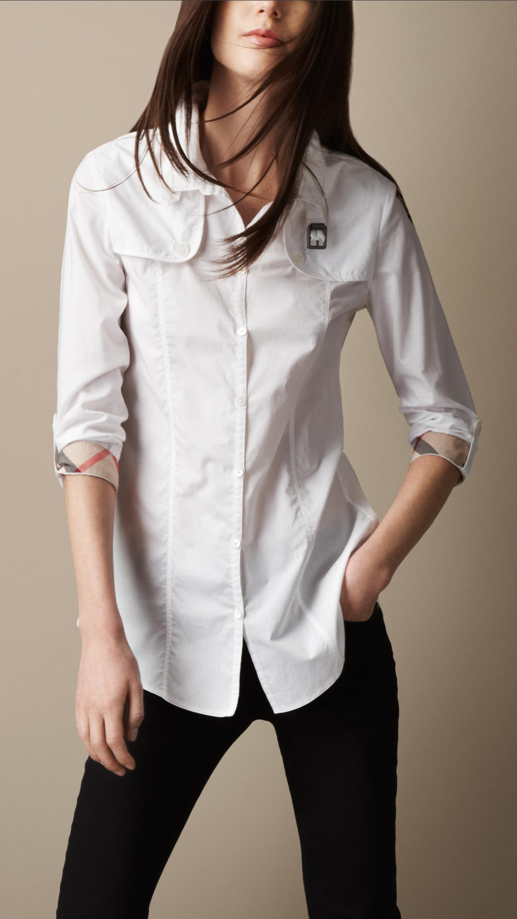 Lyst - Burberry Brit Heritage Cotton Poplin Shirt in White ba2977ee7d
