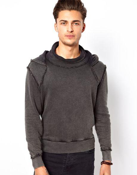 calvin klein hoodie in black for men lyst. Black Bedroom Furniture Sets. Home Design Ideas
