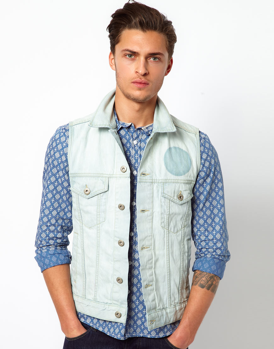 Denim Jacket for Men Washed Blue Jean Trucker Jacket Button up Motorcycle Coat with 4 Pockets $ 34 98 Prime. 3 out of 5 stars 1. Jenkoon. Men's Casual Sleeveless Lapel Jean Denim Vest Jacket. from $ 20 99 Prime. out of 5 stars 7. Global Blank. Global Heavyweight Sherpa Lined Zip Up Fleece Hoodie Jacket For Men and Women. from $ 39 99 Prime.