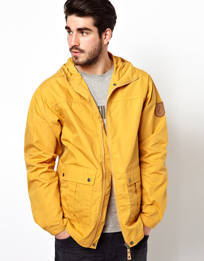Fjallraven Fjell Jacket In Yellow For Men Lyst