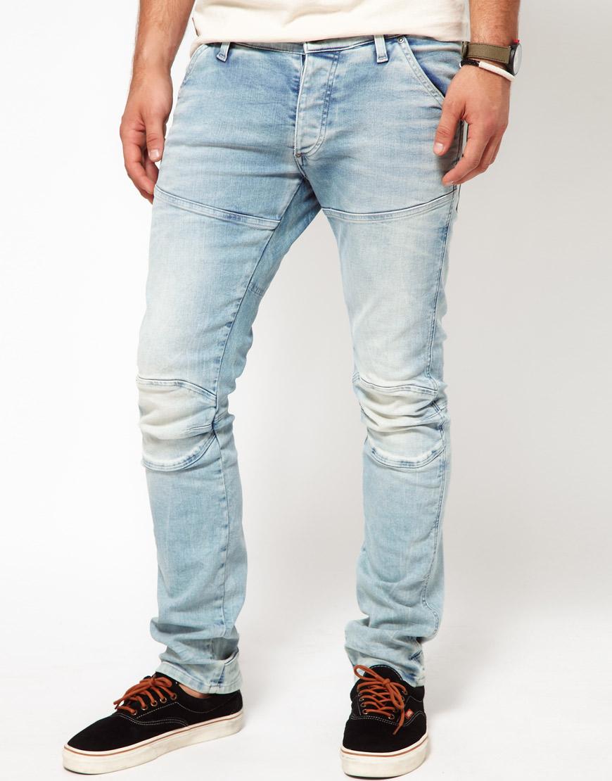 g star raw g star jeans elwood 3d super slim lt aged in blue for men lyst. Black Bedroom Furniture Sets. Home Design Ideas