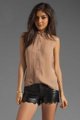 Haute Hippie Pleated Sleeveless Blouse - Lyst