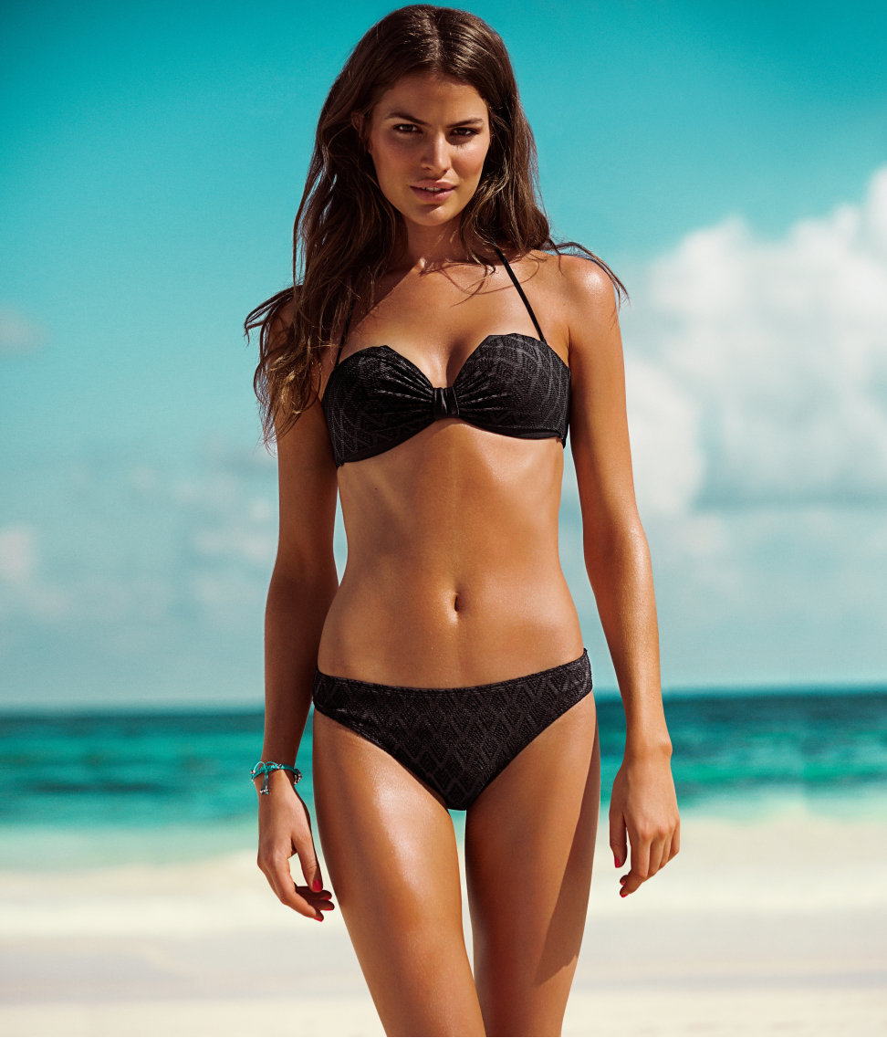h m bikini bottoms in black white lyst. Black Bedroom Furniture Sets. Home Design Ideas