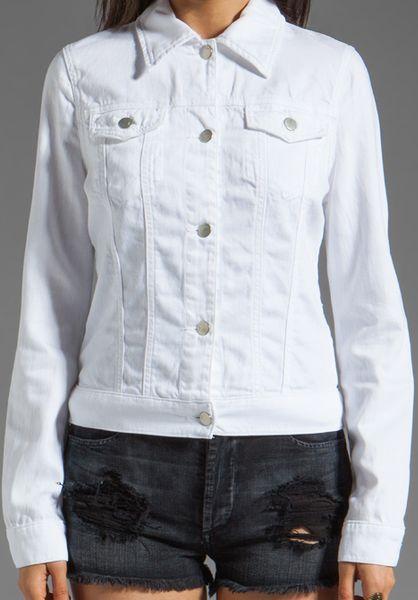 Brand Denim Jacket in White | Lyst