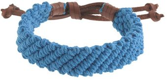 J.Crew Braided Ropeandleather Bracelet - Lyst