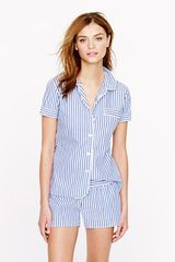 J.Crew Vintage Short Pajama Set in Stripe - Lyst