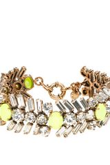 J.Crew Crystal and Neon Chevron Bracelet