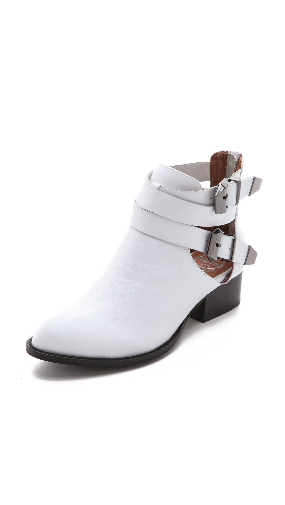 Jeffrey Campbell Everly Cutout Booties In White Lyst