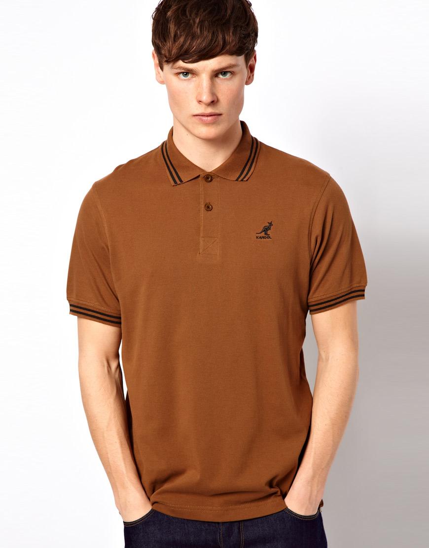 d20c9771 Kangol Poloshirt in Brown for Men - Lyst