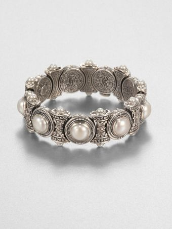 Konstantino Cultured Pearl and Sterling Silver Bracelet - Lyst