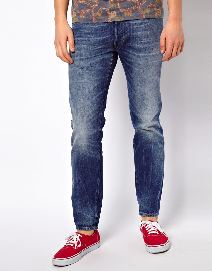 fe42dd50 Lee Jeans Lee 101 S Jeans Slim Fit Candiani White Selvage in Blue ...