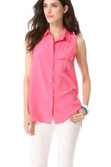 Marc By Marc Jacobs Erin Silk Sleeveless Top - Lyst