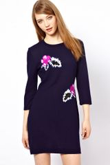 Markus Lupfer Hawaiian Flower Embellished Dress - Lyst