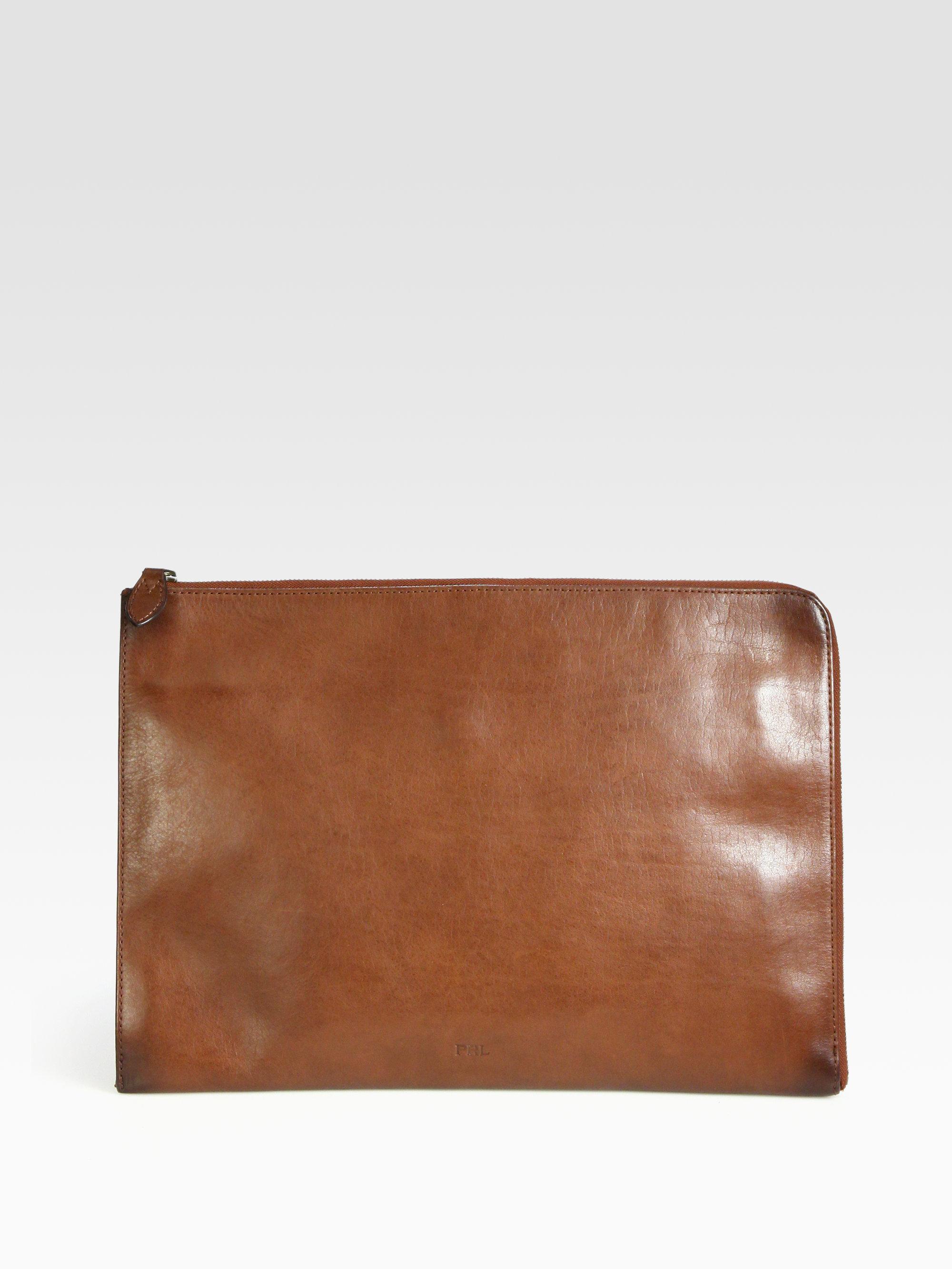 29509e12e4fb Lyst - Polo Ralph Lauren Leather Portfolio in Brown for Men