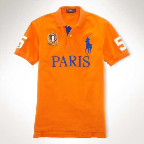 186c65bd ... australia lyst polo ralph lauren custom fit big pony city polo in  orange for men 8d191