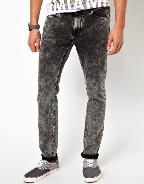 Black Acid Wash Jeans Men Download