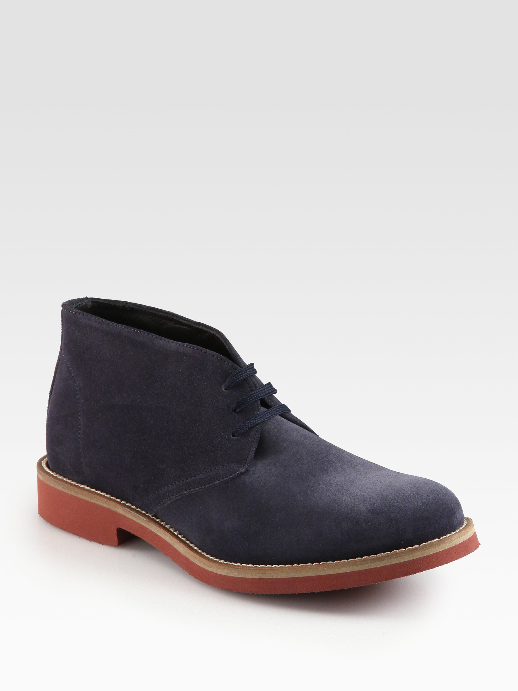 to boot norman suede chukka boots in blue for blue