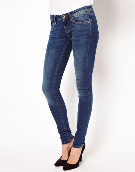 tommy hilfiger hilfiger denim natalie skinny jeans in blue. Black Bedroom Furniture Sets. Home Design Ideas
