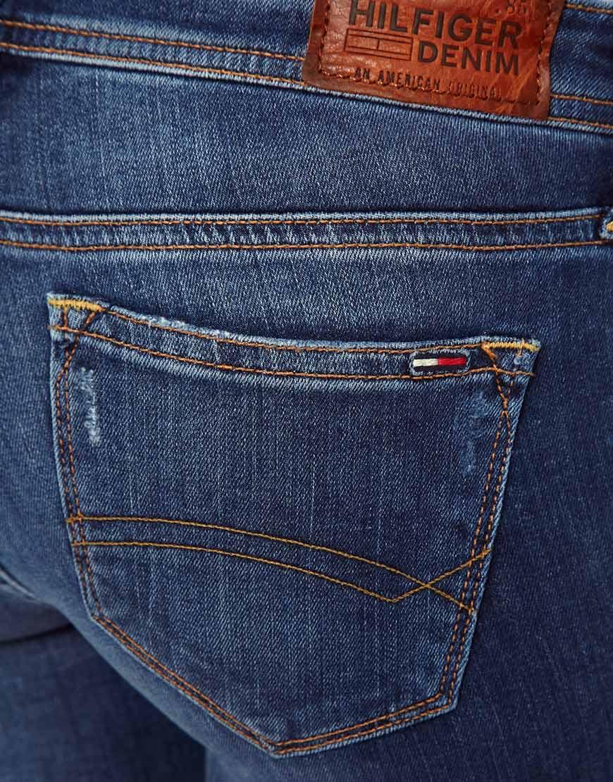lyst tommy hilfiger hilfiger denim natalie skinny jeans. Black Bedroom Furniture Sets. Home Design Ideas