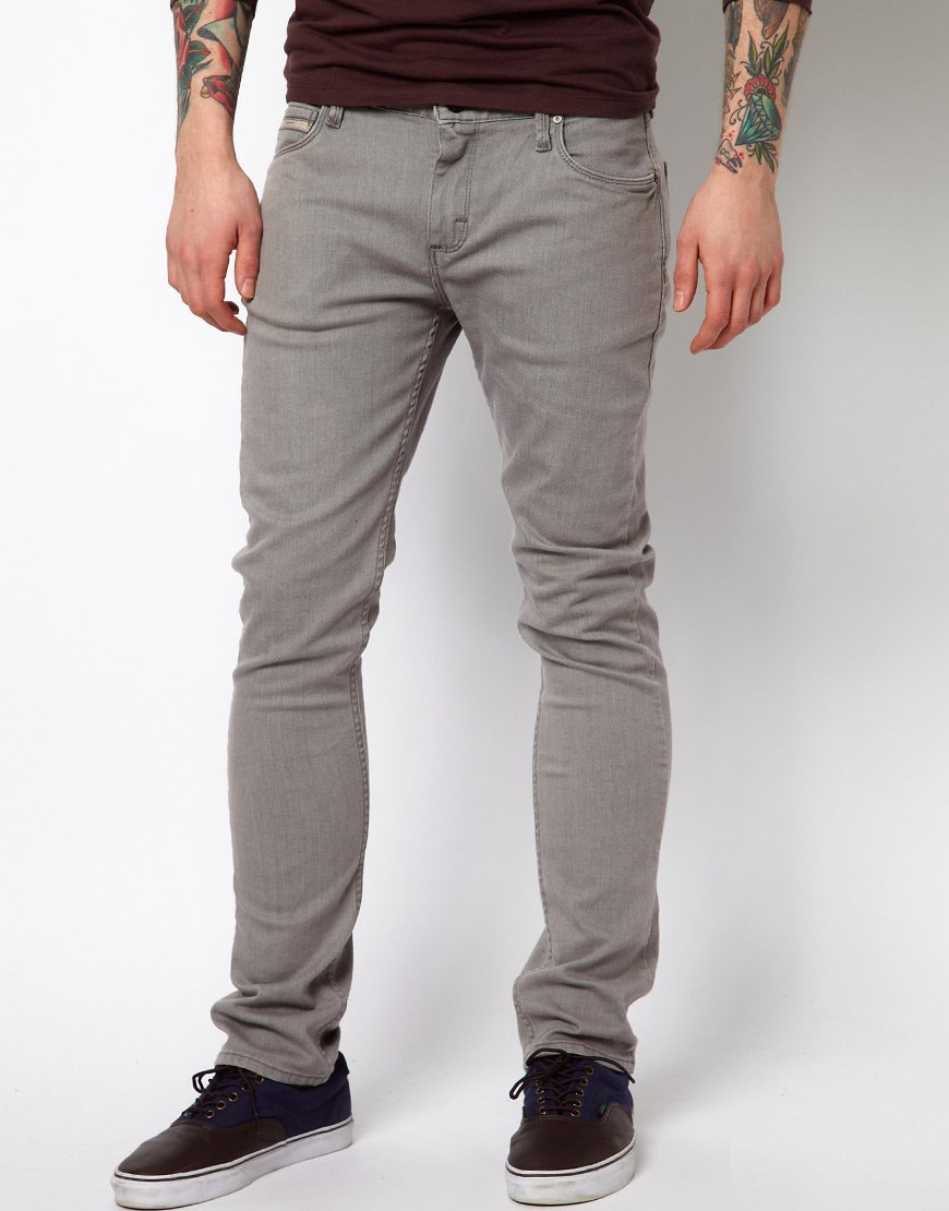 Lyst - Vans Jeans V76 Skinny Fit Grey Washed in Gray for Men