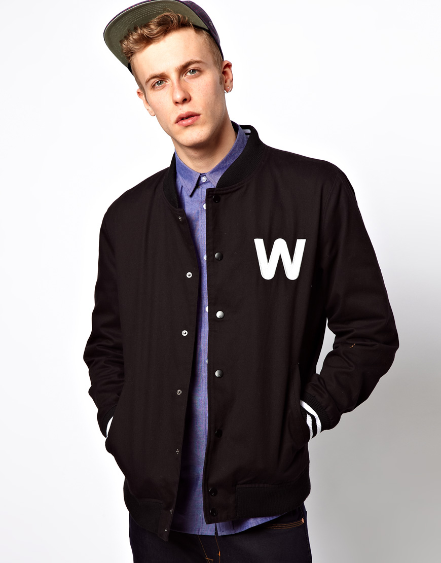 Wesc Silvola Baseball Jacket in Black for Men | Lyst