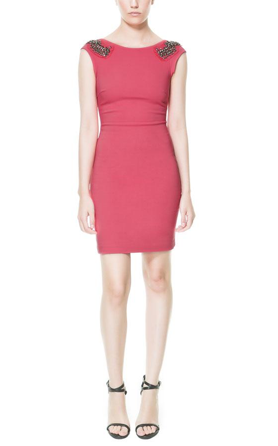 Zara Tulip Dress Zara Shift Dress With Appliqué