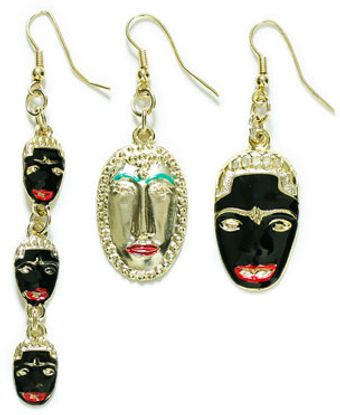 Zara Combination Masks Earrings - Lyst