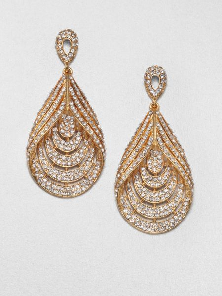 allen jewelry abs by allen schwartz glass chandelier teardrop earrings 3763